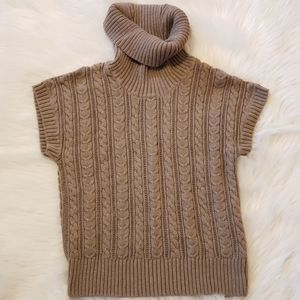 Juniors Cable Knit Sweater with Cowl Neck